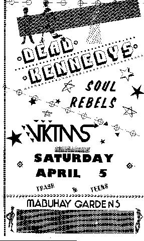 dead kennedys vktms soull rebels mabuhay gardesn