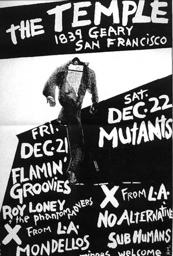 1839 geary flamin groovies roy loney X mutants no alternative Subhumans